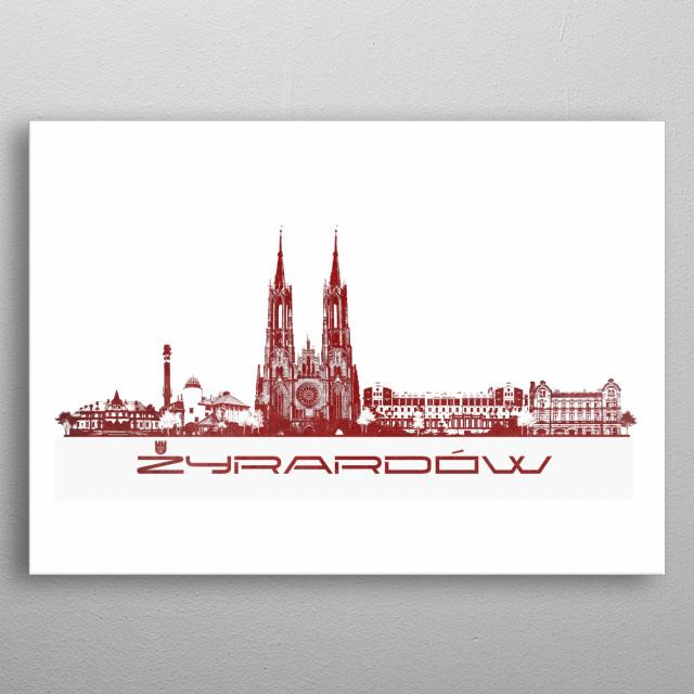 Zyrardow skyline city metal poster