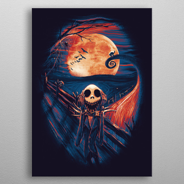 The Scream After Christmas metal poster