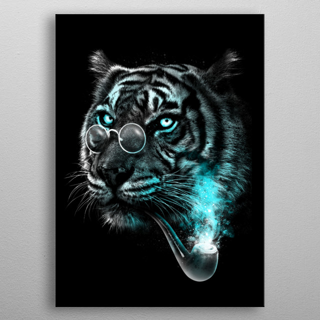 Gentle Tiger metal poster
