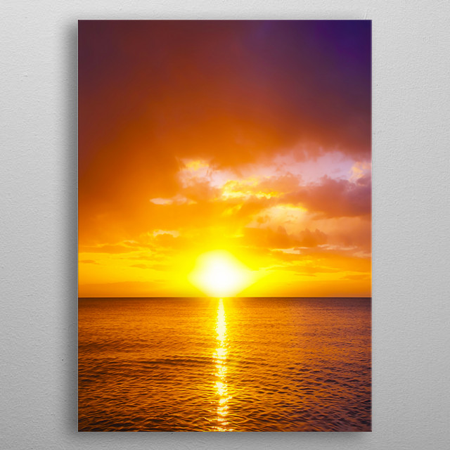Ray of Sun metal poster