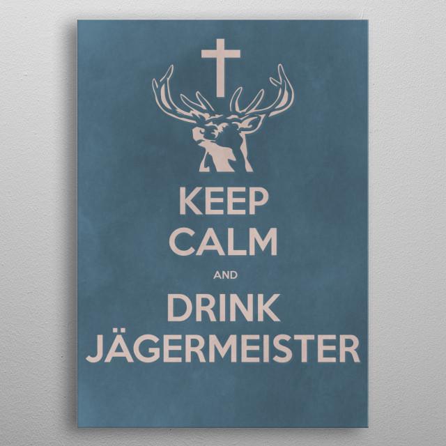 Keep Calm metal poster