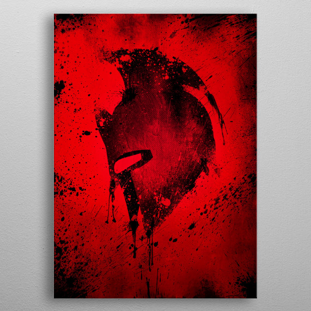 For the Spartan Fans · Bloody Hell Edition metal poster