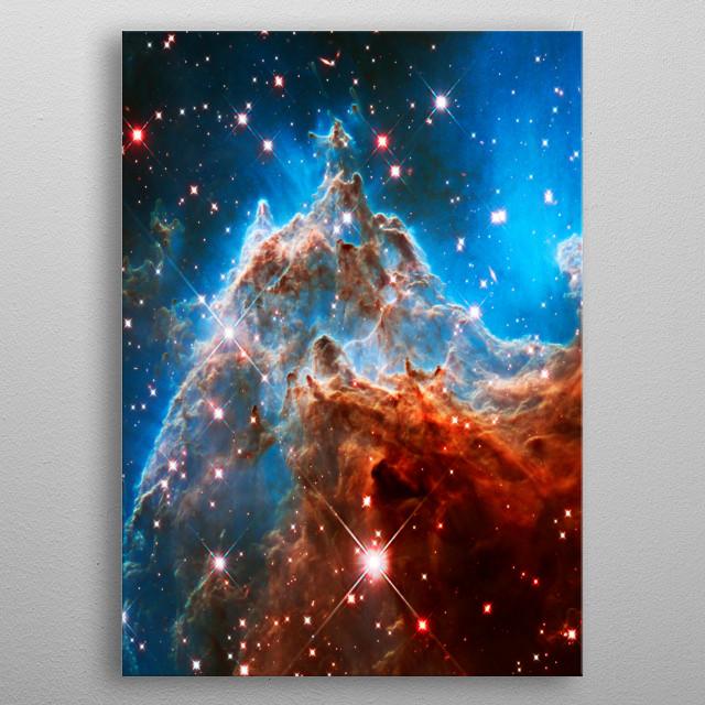 Monkey Head Nebula NGC 2174 JPL/ESA/NASA metal poster