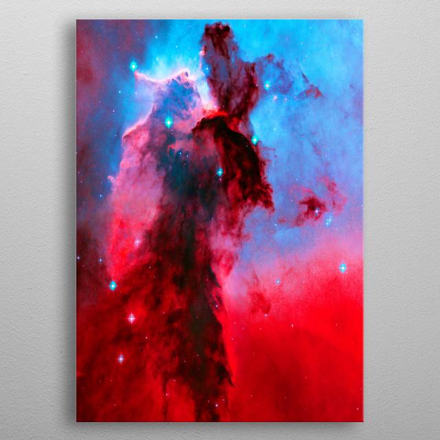 Eagle Nebula Stellar Spires is based on an HST image. JPL/ESA metal poster