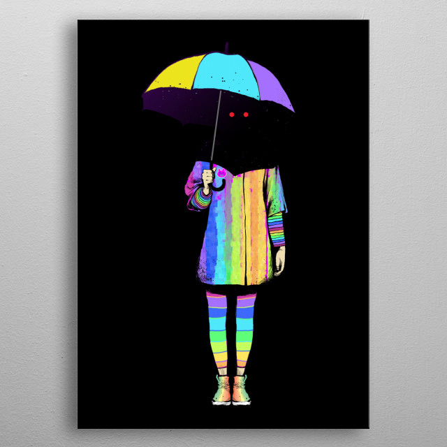 Umbrella metal poster