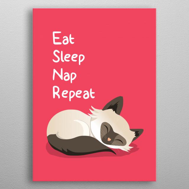 Cat Goals metal poster