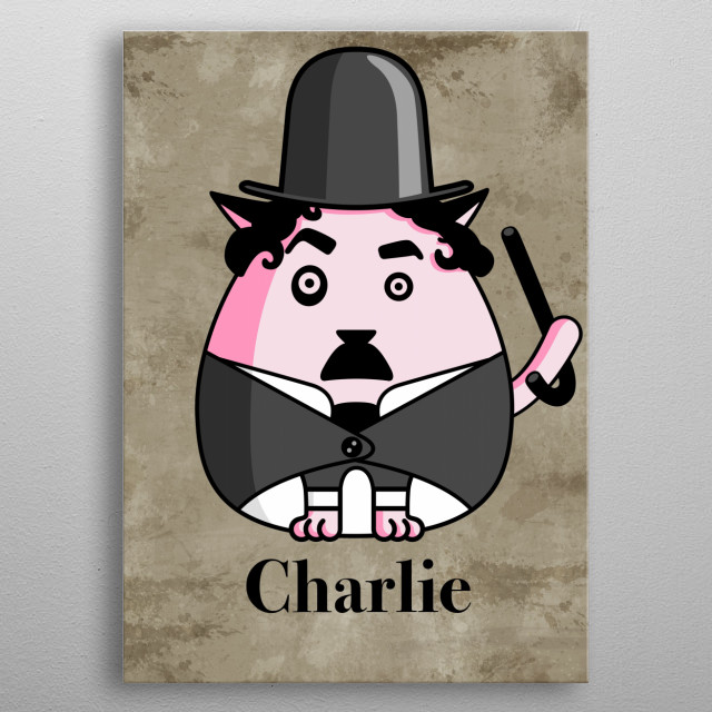 Charlie the cat metal poster