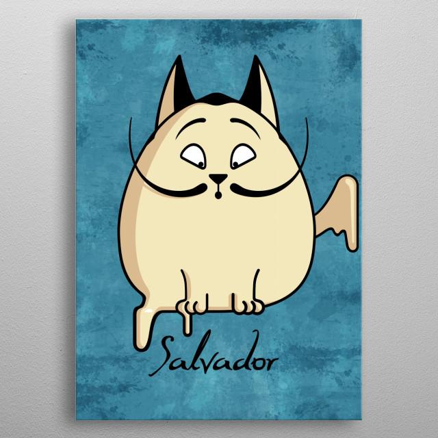 Salvador the cat metal poster