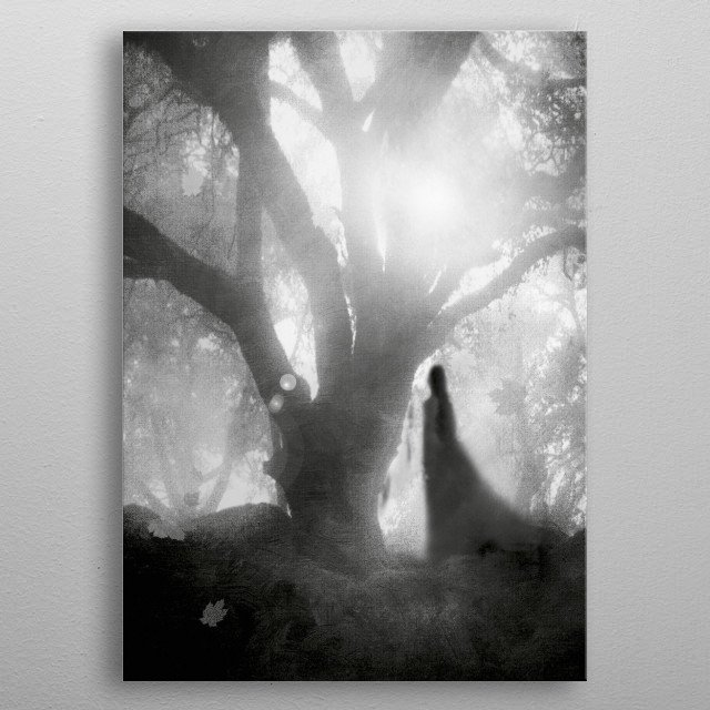 Black and White - Autumn Song metal poster