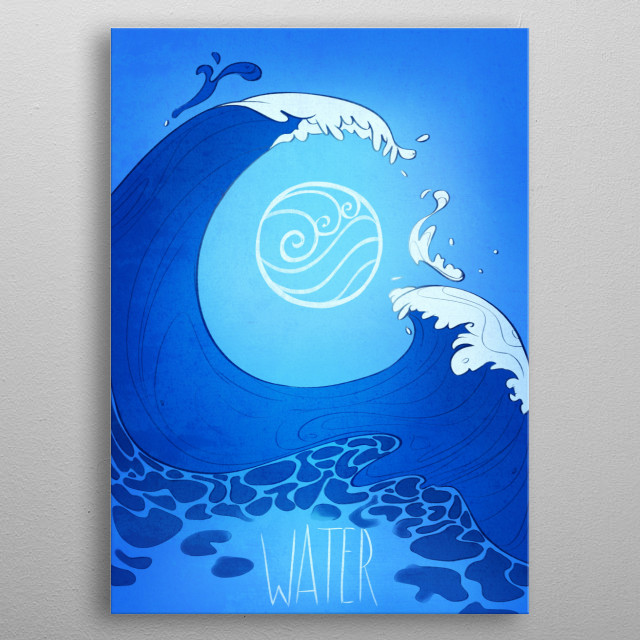 Avatar element : WATER metal poster