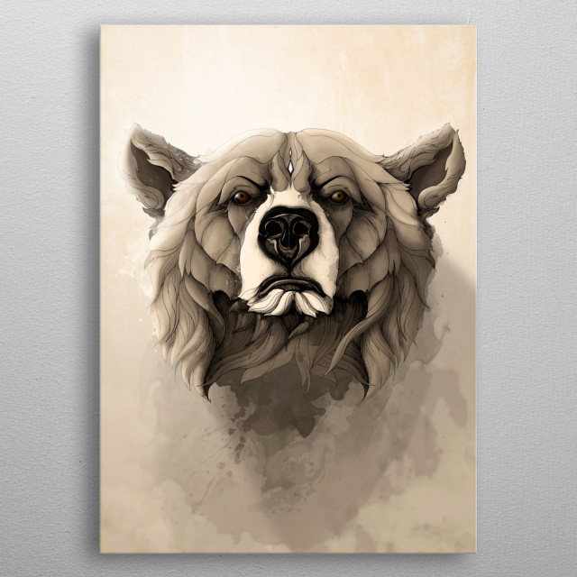 'Wild Animals' serie. metal poster