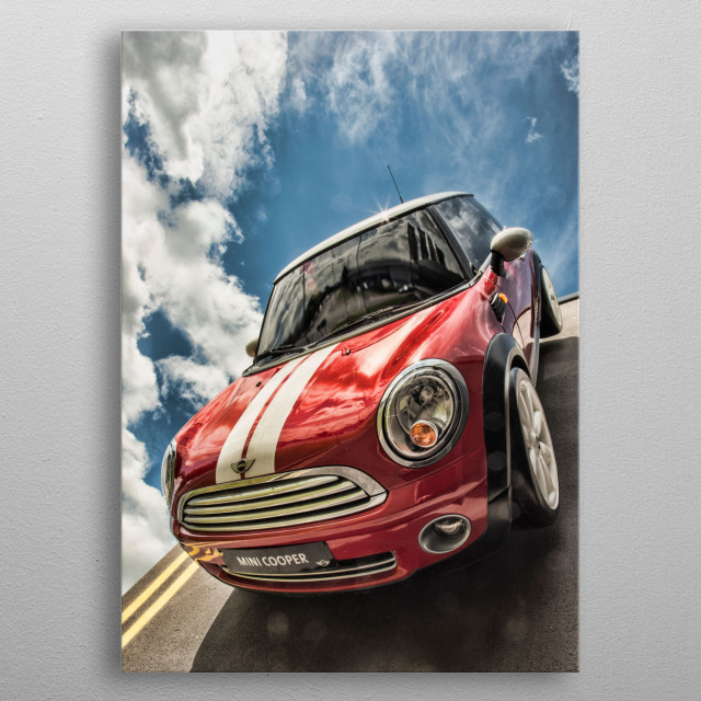 A car I saw hanging off a wall in a burnley car showroom. metal poster