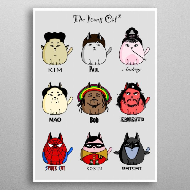 The Icons Cat 2 metal poster