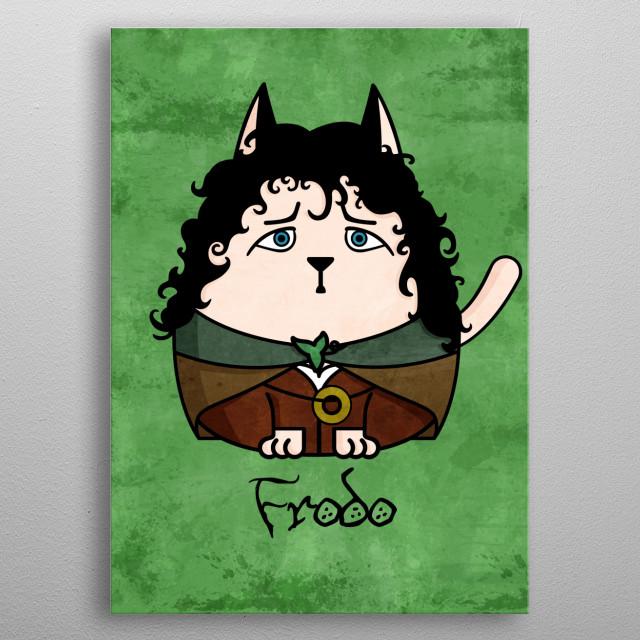 Frodo the Cat metal poster