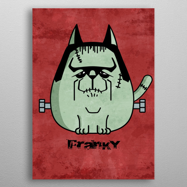Franky the Cat metal poster