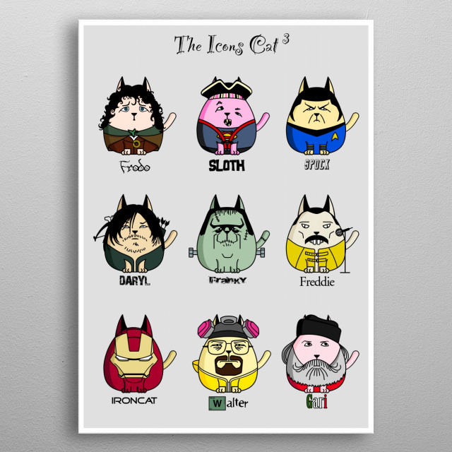 The Icons Cat 3 metal poster
