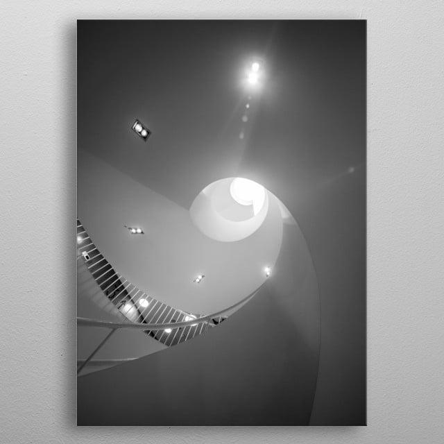 Stockmann spiral metal poster