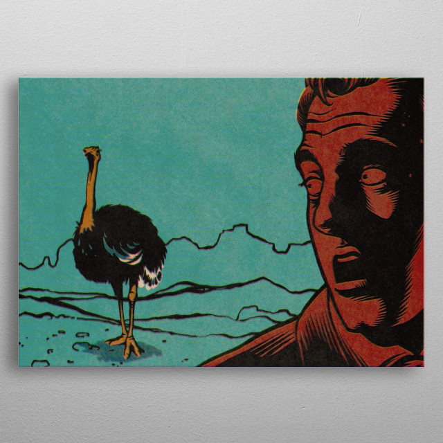 Pulp Panel II: The ominous ostrich... metal poster