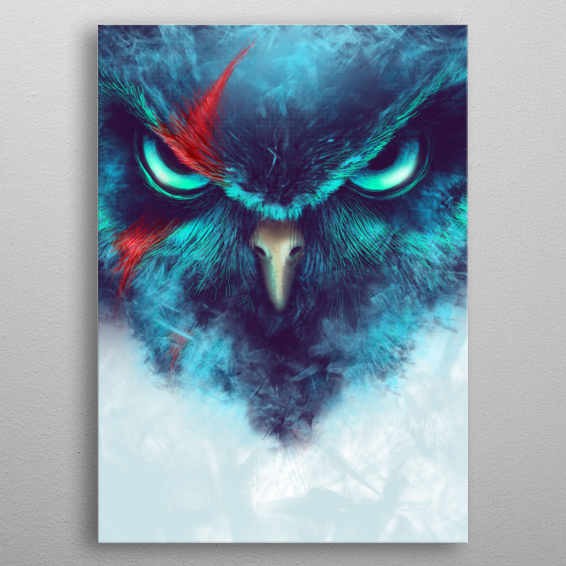 The Fearsome Owl metal poster