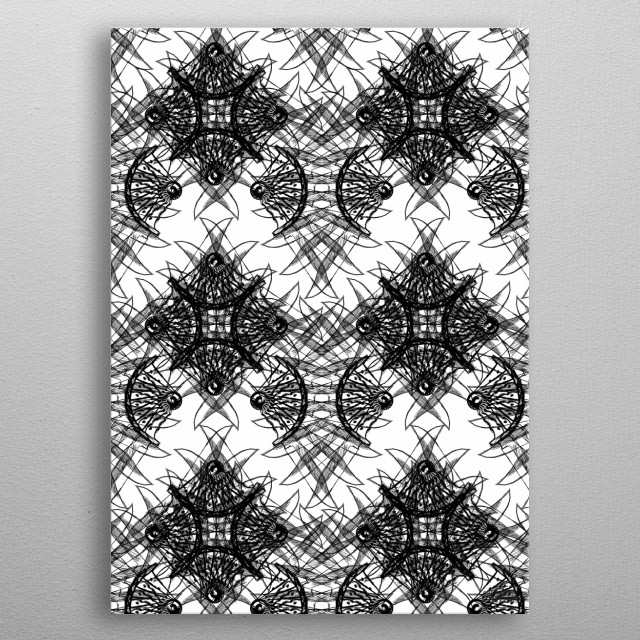 High-quality metal print from amazing Abstract Patterns collection will bring unique style to your space and will show off your personality. metal poster