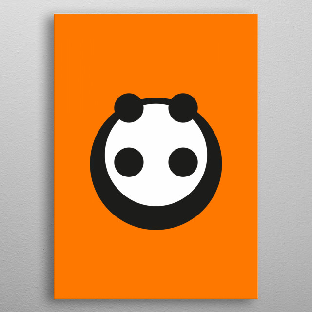 A most minimalist Panda  6 circles for a panda,  no more, no less;  a greater artist could do it in one; haiku fail. metal poster