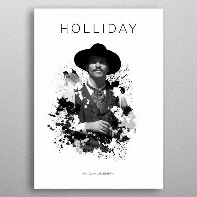 Doc Holliday metal poster