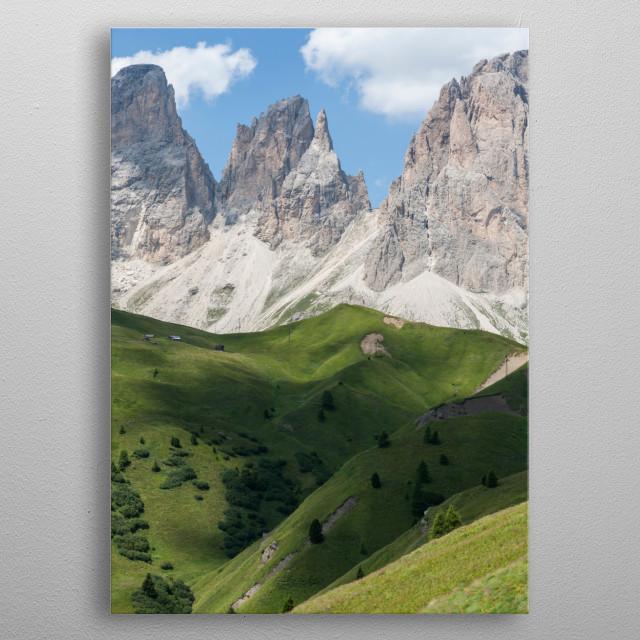 landscape rocky mountain metal poster