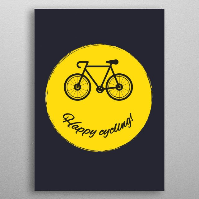 Happy cycling!  metal poster