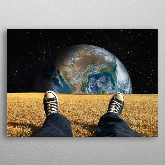 World view metal poster
