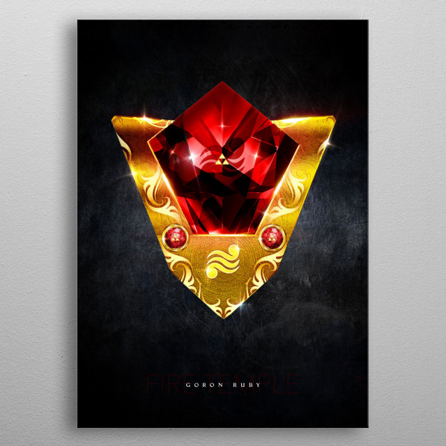My rendition of a realistic Goron Ruby inspired from Th... metal poster