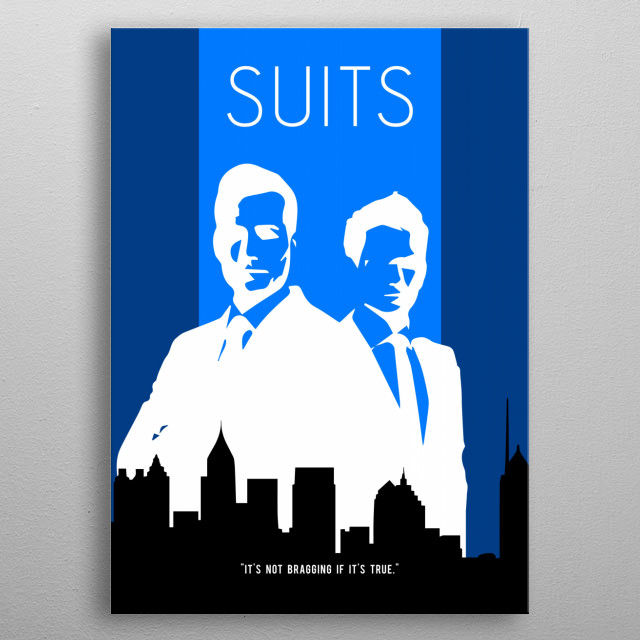 """A minimalistic poster for the TV show """"Suits"""". metal poster"""