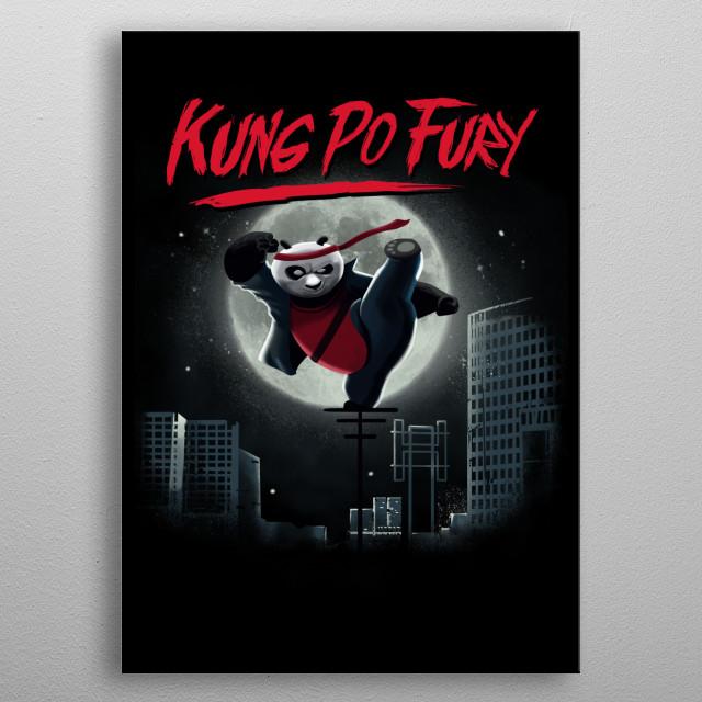 Kung Po Fury metal poster