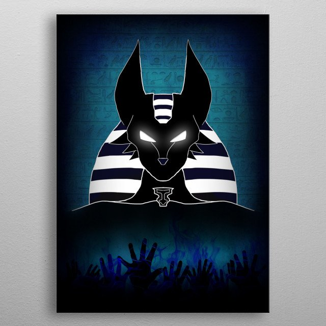 Anubis. God of the Dead metal poster