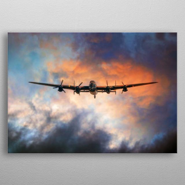 THE RAF BBMF Avro Lancaster Bomber metal poster