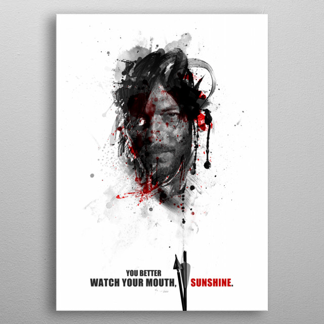 You better watch your mouth, sunshine. metal poster