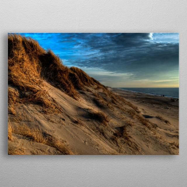 Danish dunes, from Hvide Sande - a very western part of Denmark metal poster