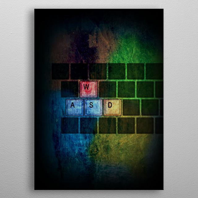 Windows gaming artwork metal poster