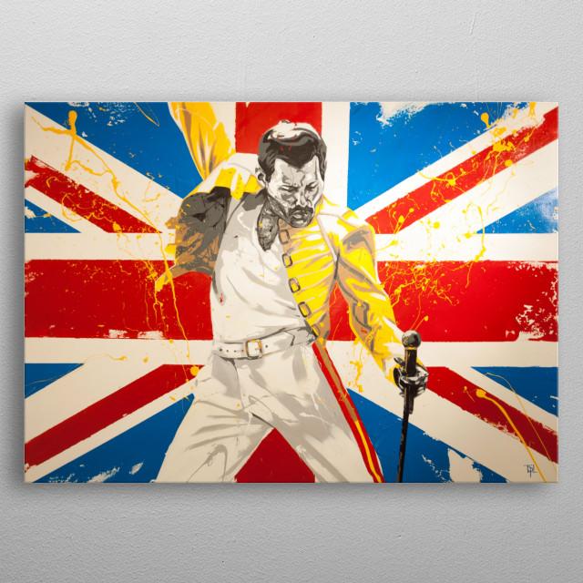 """""""Freddie Mercury""""  metal poster"""