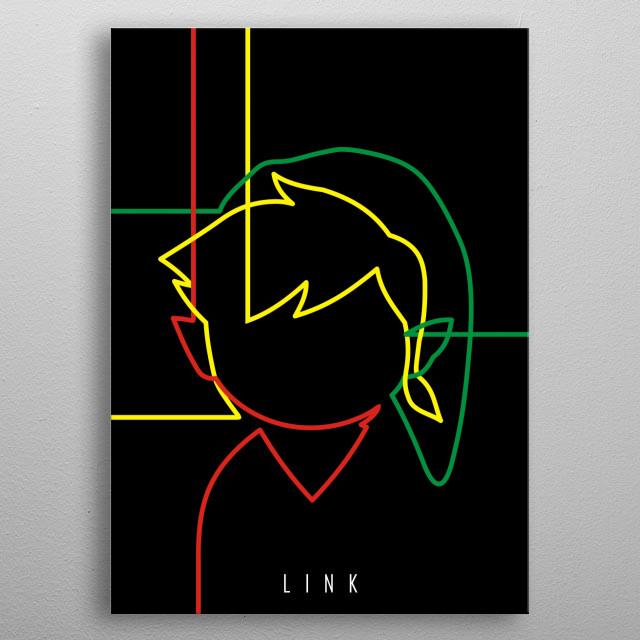 "Minimal ""Link (Legend of Zelda)"" Poster metal poster"