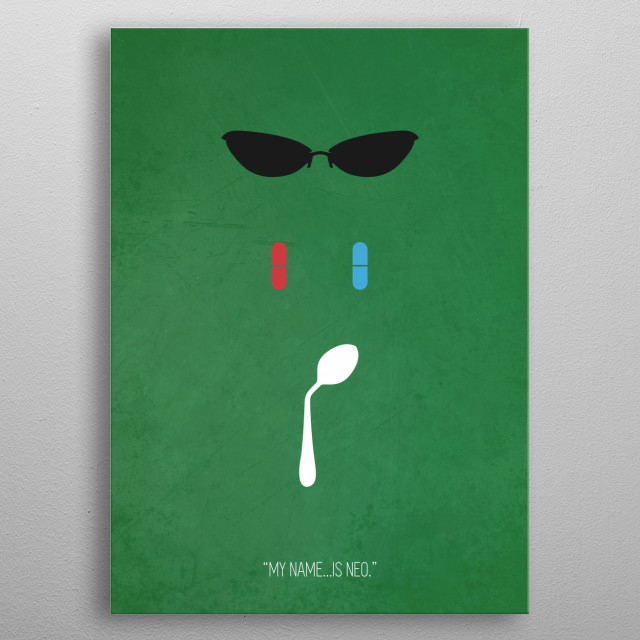 The Matrix minimal movie poster. metal poster