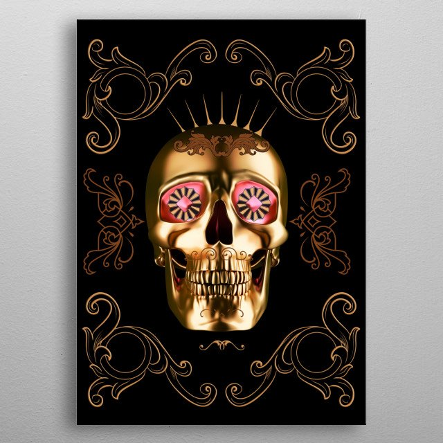 Fascinating metal poster designed by Mikath. Displate has a unique signature and hologram on the back to add authenticity to each design. metal poster
