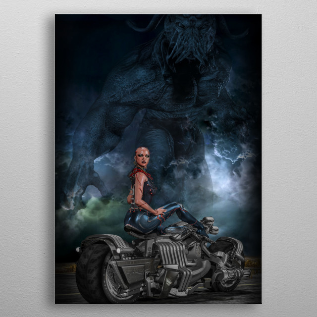 Apocalypta: The last Horseman.  A scifi project based on the Four horsemen of the apocalypse. metal poster
