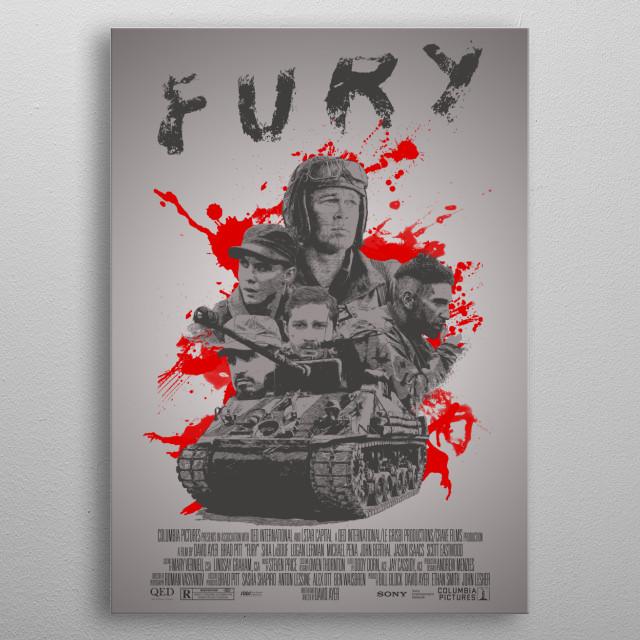 Fury - Alternative Movie Poster metal poster