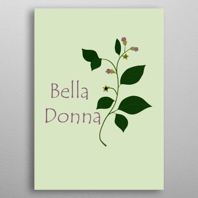 Atropa belladonna or Deadly Nightshade metal poster