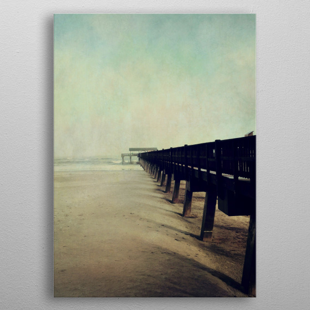 Ocean Pier metal poster