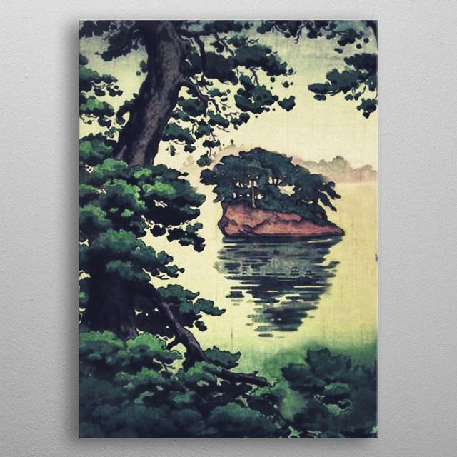Autumn Rain in Yama metal poster