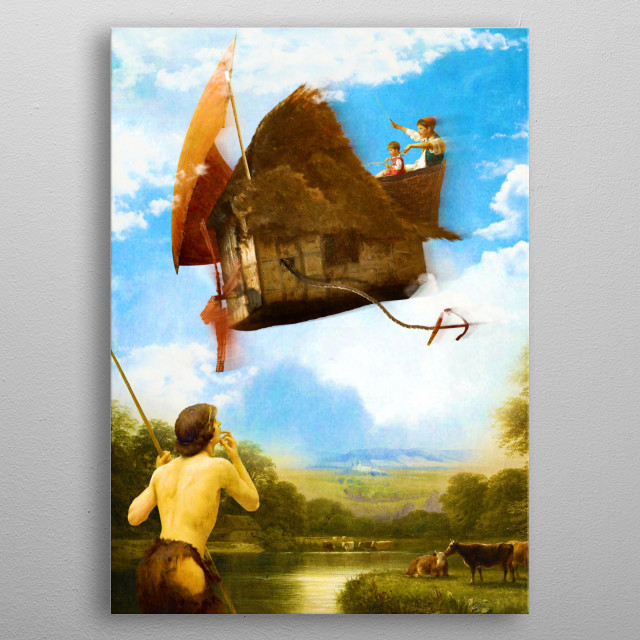 The Flying House - version 1 metal poster