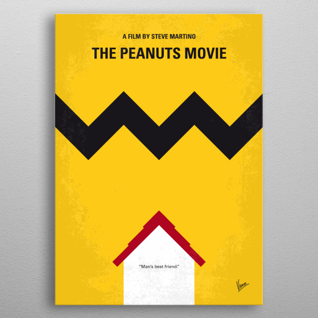 No624 My The peanuts minimal movie poster  Snoopy embarks upon his greatest mission as he and his team take to the skies to pursue their arch... metal poster