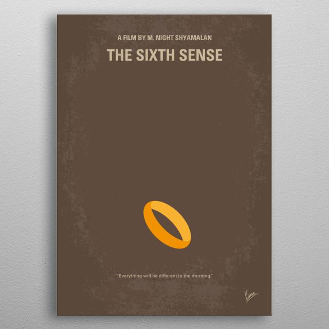 No638 My The Sixth Sense minimal movie poster  A boy wh... metal poster
