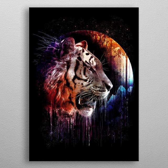 MIDNIGHT HUNTER - get ready...tiger metal poster